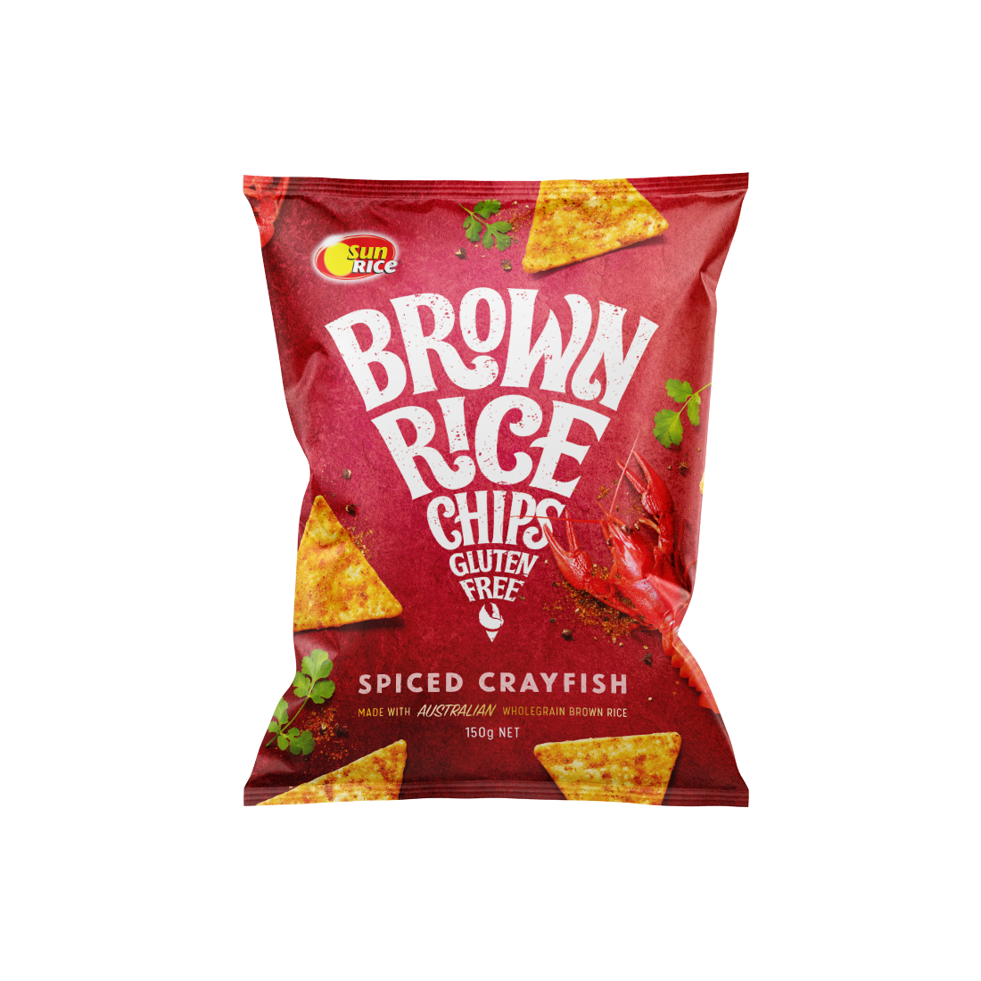 Sun Rice_Brown Rice Chips_Spiced Crayfish_Render