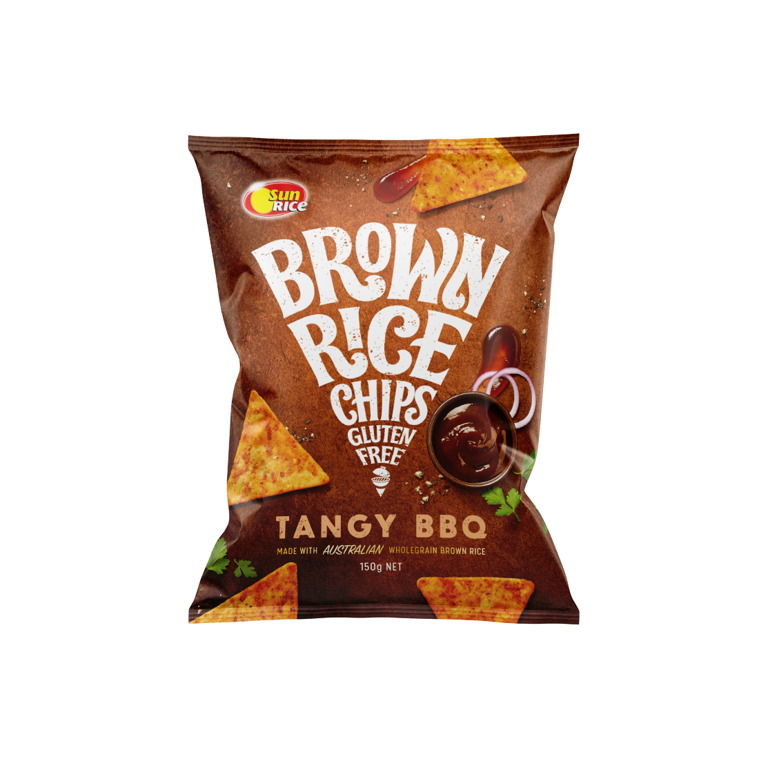 Sun Rice_Brown Rice Chips_Tangy BBQ_Render